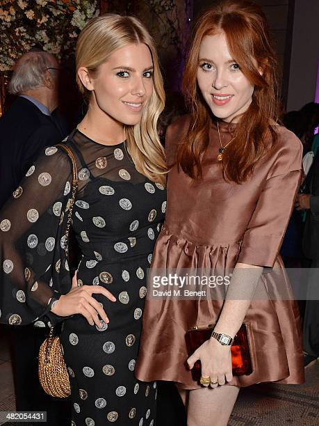 Mollie King and Angela Scanlon attend a VIP private view of 'The Glamour of Italian Fashion 19452014' at the Victoria Albert Museum on April 2 2014...