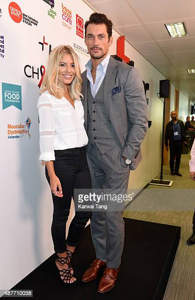 Mollie King and David Gandy attend the annual BGC Global Charity Day at BGC Partners on September 11 2015 in London England