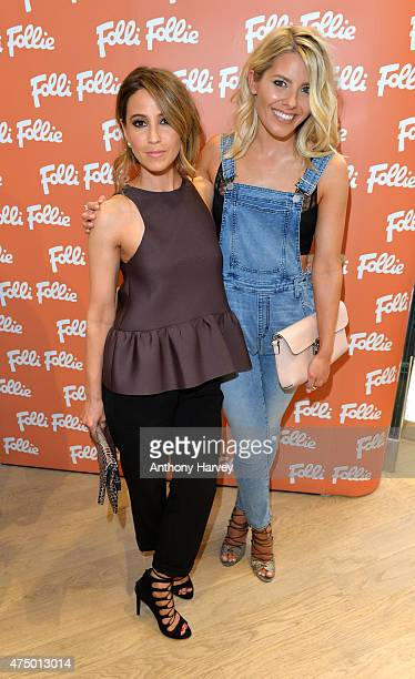 Mollie King and Rachel Stevens attend the launch of the New Folli Follie Flagship Store on Oxford Street on May 28 2015 in London England