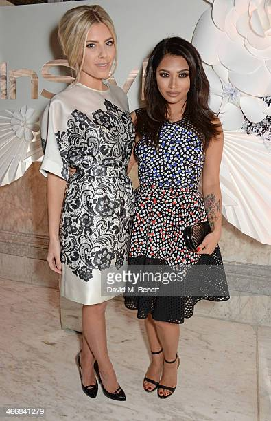 Mollie King and Vanessa White attend the InStyle Best of British Talent party in celebration of BAFTA in association with Lancome and Sky Living at...