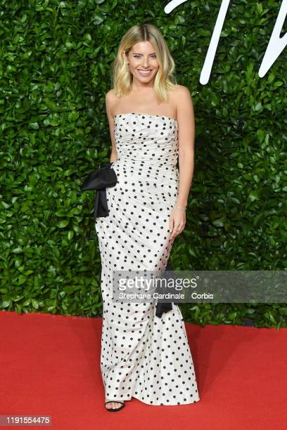 Mollie King arrives at The Fashion Awards 2019 held at Royal Albert Hall on December 02, 2019 in London, England.