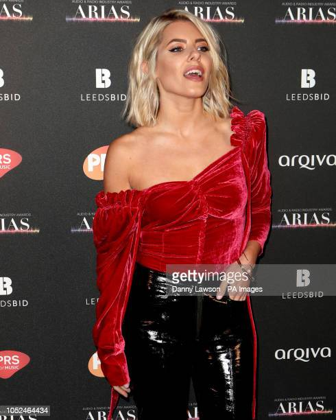 Mollie King arriving at the The Audio and Radio Industry Awards at the First Direct Arena in Leeds