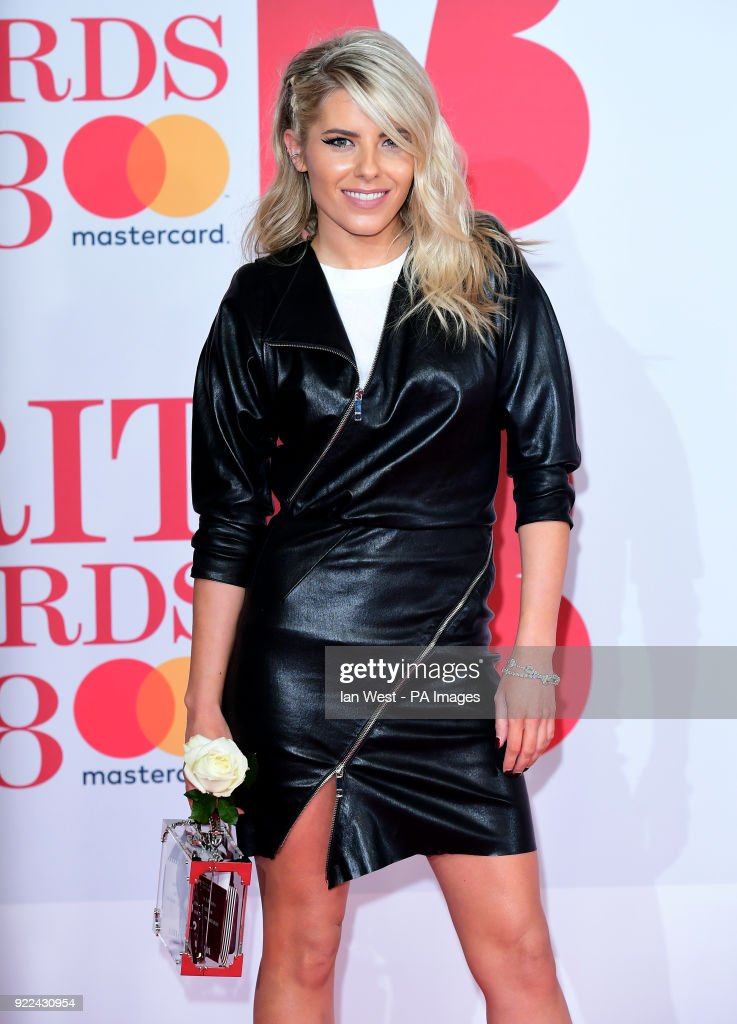 Mollie King attending the Brit Awards at the O2 Arena, London. PRESS ASSOCIATION Photo. Picture date: Wednesday February 21, 2018. See PA story SHOWBIZ Brits. Photo credit should read: Ian West/PA Wire