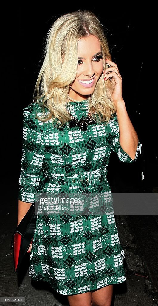 Mollie King attending the InStyle Best of British Talent party held at Shoreditch House on January 30, 2013 in London, England.
