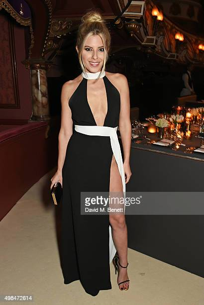 Mollie King attends a drinks reception at the British Fashion Awards in partnership with Swarovski at the London Coliseum on November 23 2015 in...