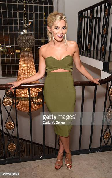 Mollie King attends a gala celebrating 15 years of mothers2mothers hosted by Annie Lennox at One Marylebone on November 3 2015 in London England