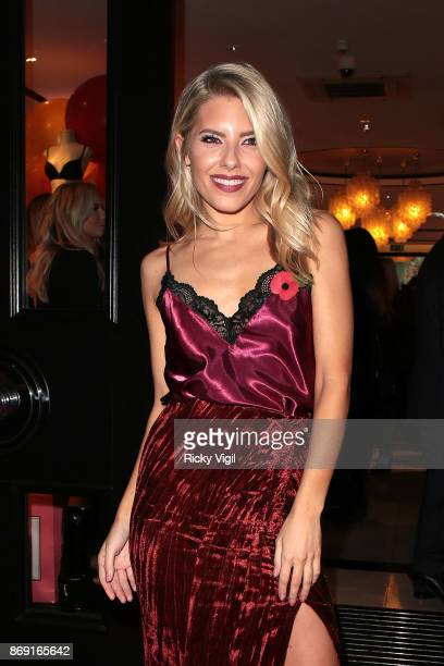 Mollie King attends Boux Avenue Christmas campaign launch on November 1 2017 in London England
