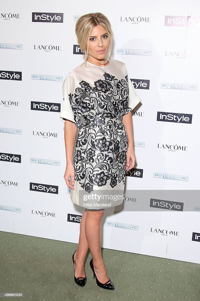 Mollie King attends InStyle magazine's The Best of British Talent pre-BAFTA party at Dartmouth House on February 4, 2014 in London, England.