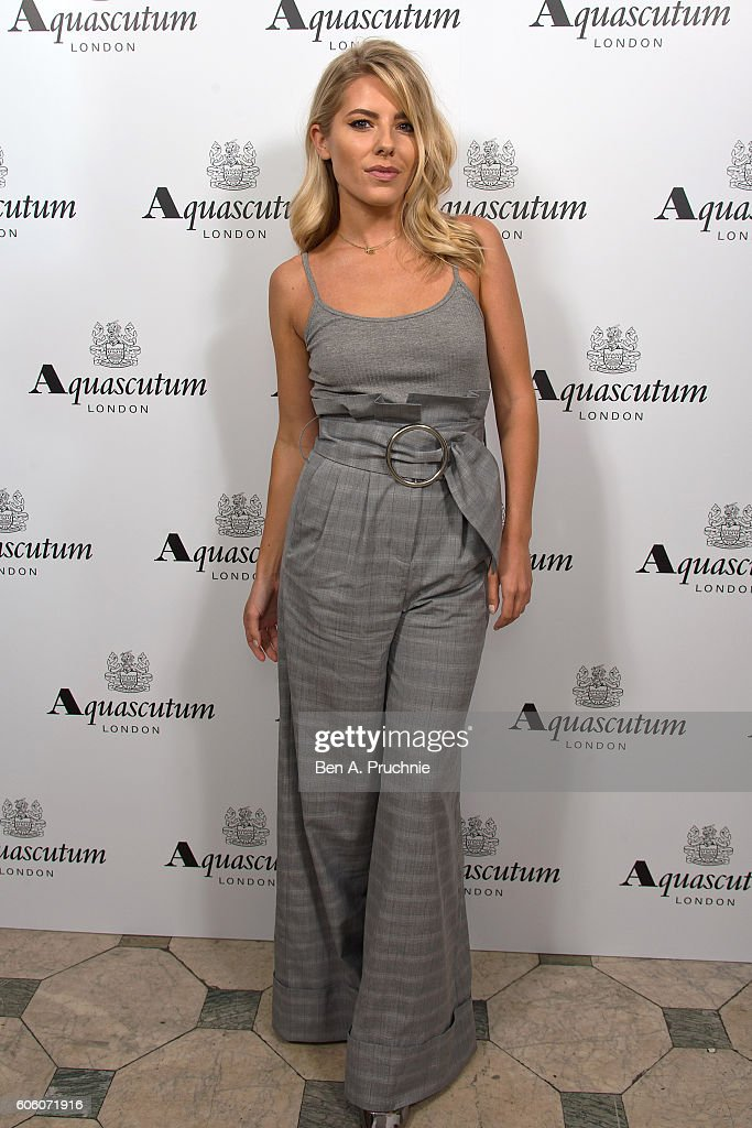 Mollie King attends the Aquascutum SS17 Presentation on September 16, 2016 in London, England.