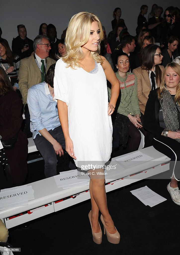 Mollie King attends the Ashish show during London Fashion Week Fall/Winter 2013/14 at Somerset House on February 19, 2013 in London, England.