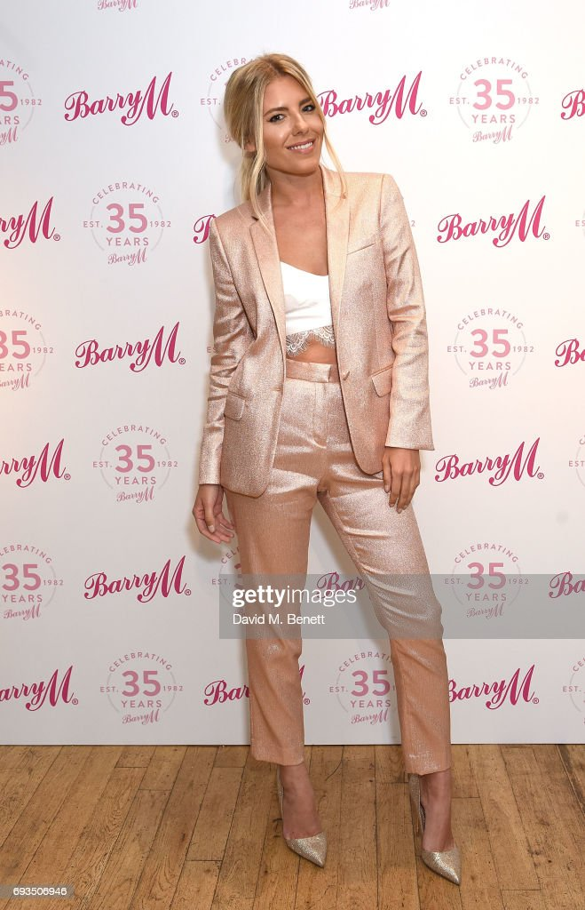 Mollie King attends the Barry M 35th Anniversary event at The OXO Tower on June 7, 2017 in London, England.