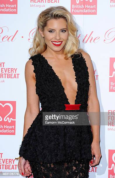 Mollie King attends the British Heart Foundation's Roll Out The Red Ball at Park Lane Hotel on February 10 2015 in London England
