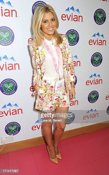 Mollie King attends the evian 'Live Young' Suite at Wimbledon on June 24 2013 in London England