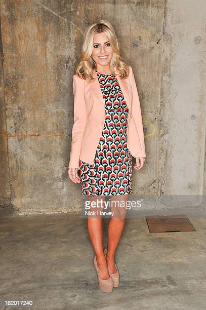 Mollie King attends the Fashion East show during London Fashion Week Fall/Winter 2013/14>> at TopShop Show Space on February 18 2013 in London England