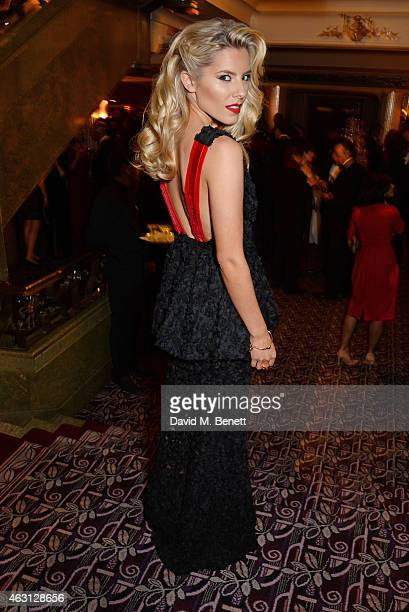 Mollie King attends the inaugural Roll Out The Red Ball in aid of the British Heart Foundation at The Park Lane Hotel on February 10 2015 in London...