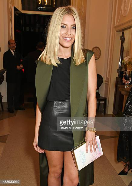 Mollie King attends the London Fashion Week party hosted by Ambassador Matthew Barzun and Mrs Brooke Brown Barzun with Alexandra Shulman in...
