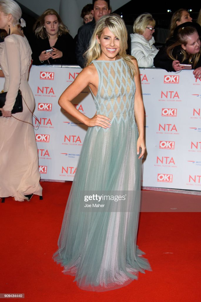 Mollie King attends the National Television Awards 2018 at The O2 Arena on January 23, 2018 in London, England.
