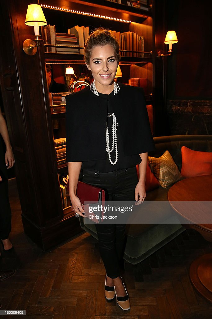 Mollie King attends the opening of Rosewood London on October 30, 2013 in London, England.