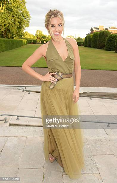 Mollie King attends The Ralph Lauren Vogue Wimbledon Summer Cocktail Party hosted by Alexandra Shulman and Boris Becker at The Orangery at Kensington...
