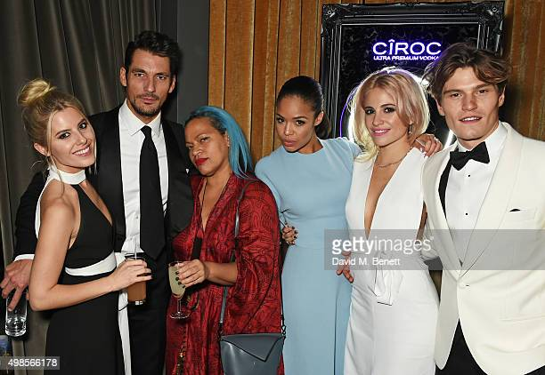 Mollie King David Gandy guest Sarah Jane Crawford Pixie Lott and Oliver Cheshire attend the British Fashion Awards official afterparty hosted by St...