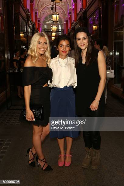 Mollie King Katie Melua and Hannah Trigwell attend the Beards Jewellery London showroom launch party in the Royal Arcade Old Bond Street on July 6...
