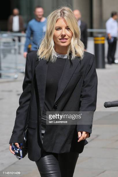Mollie King leaving BBC Radio One Studios after finishing her show on April 25 2019 in London England