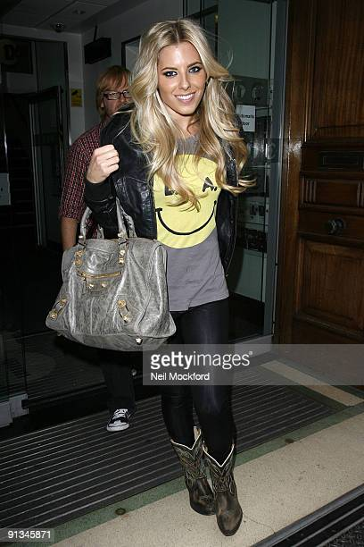 Mollie King of The Saturdays leaves the BBC Radio One studios on October 2 2009 in London England