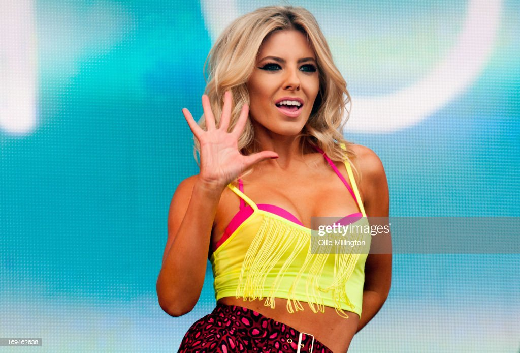 Mollie King of The Saturdays performs on stage on Day 2 of Radio 1's Big Weekend Festival on May 25, 2013 in Londonderry, Northern Ireland.