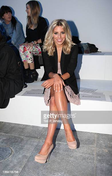 Mollie King on the front row for Fashion East at London Fashion Week Autumn/Winter 2012 at Topshop Venue Old Billinsgate Market on February 20 2012...