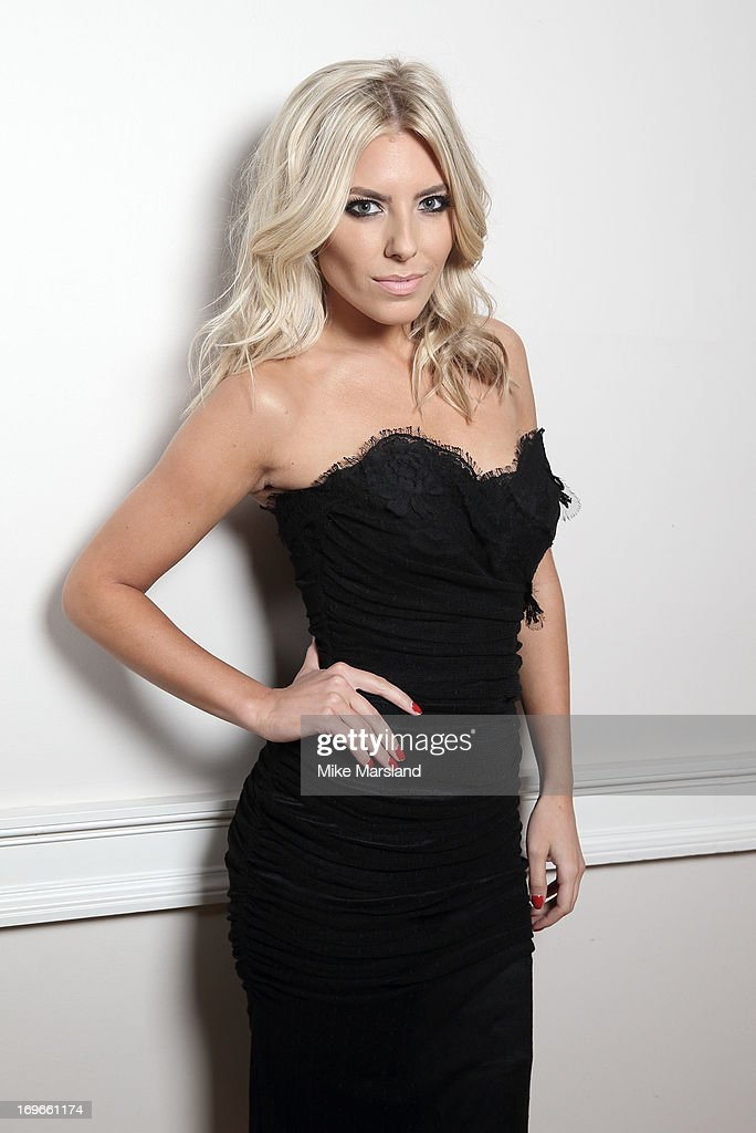 Mollie King poses for Stella/Esquire Portrait Studio at Somerset House on May 29, 2013 in London, England.