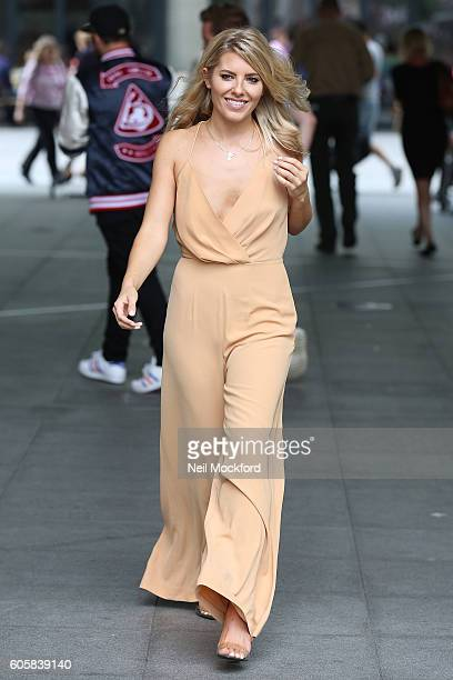 Mollie King seen leaving BBC Radio One on September 15 2016 in London England