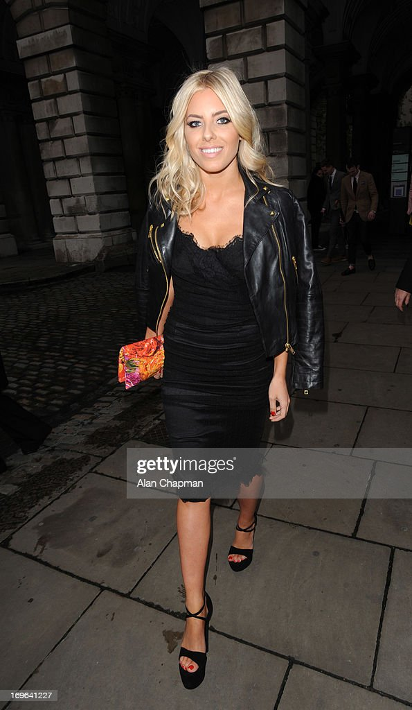 Mollie King sighting arriving at the Esquire Summer Party Somerset House The Strand on May 29, 2013 in London, England.