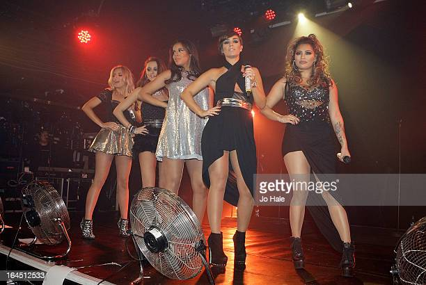 Mollie King Una Healy Rochelle Wiseman Frankie Sandford and Vanessa White of The Saturdays perform on stage in concert at GAY on March 23 2013 in...