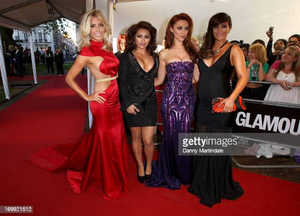 Mollie King, Vanessa White, Una Healy and Frankie Sandford of The Saturdays attends Glamour Women of the Year Awards 2013 at Berkeley Square Gardens...