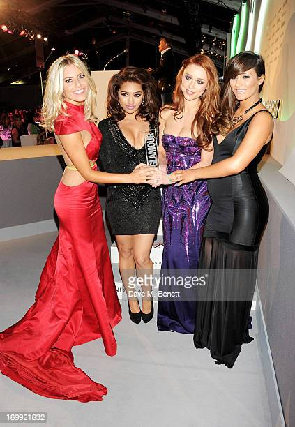 Mollie King, Vanessa White, Una Healy and Frankie Sandford of The Saturdays accept the Best Band award at the Glamour Women of the Year Awards in...