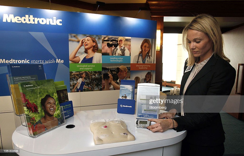 Mollie MacDonald, a Medtronic Inc , representative, shows a    News