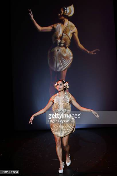 'Mollusca' by R R Pascoe of Australia is modelled after winning the Australia Pacific International Award during the World of WearableArt Awards 2017...