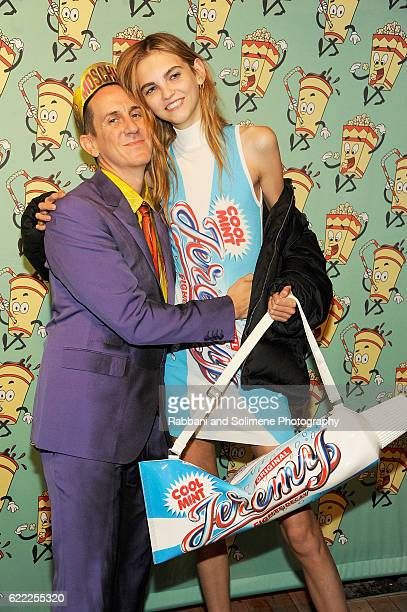 Molly Bair and Jeremy Scott attend the Jeremy Scott x Google Launch Party on November 10, 2016 in New York City.