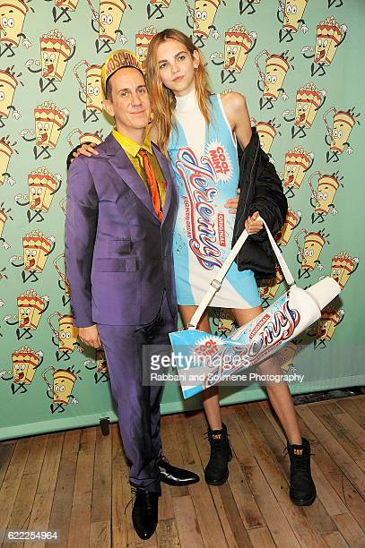 Molly Bair and Jeremy Scott attends the Jeremy Scott x Google Launch Party on November 10, 2016 in New York City.