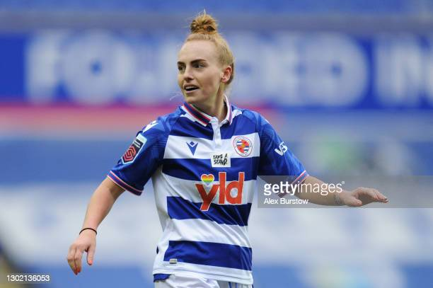 Molly Bartrip of Reading looks on during the Barclays FA Women's Super League match between Reading Women and Everton Women at Madejski Stadium on...