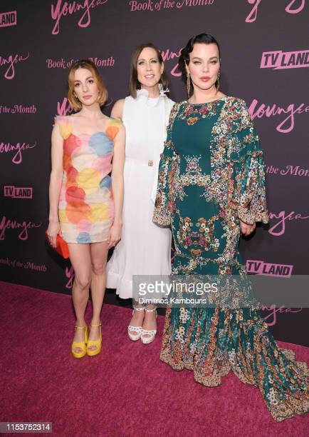"""Molly Bernard, Miriam Shor and Debi Mazur attend """"Younger"""" Season 6 New York Premiere at William Vale Hotel on June 04, 2019 in New York City."""