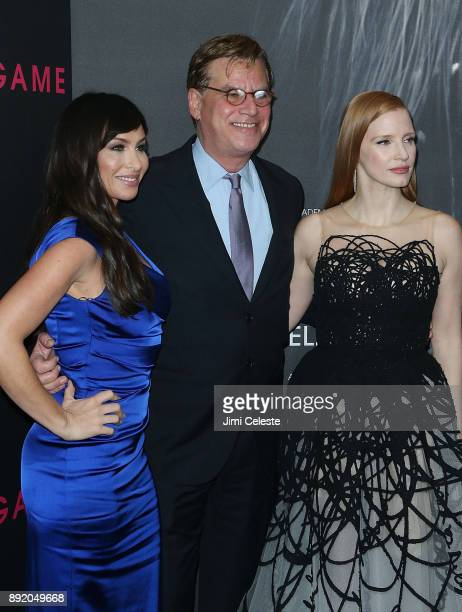 Molly Bloom Aaron Sorkin and Jessica Chastain attend the New York premiere of 'Molly's Game' at AMC Loews Lincoln Square on December 13 2017 in New...