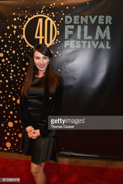 Molly Bloom arrives for a screening of 'Molly's Game' at the 40th annual Denver Film Festival on November 9 2017 in Denver Colorado