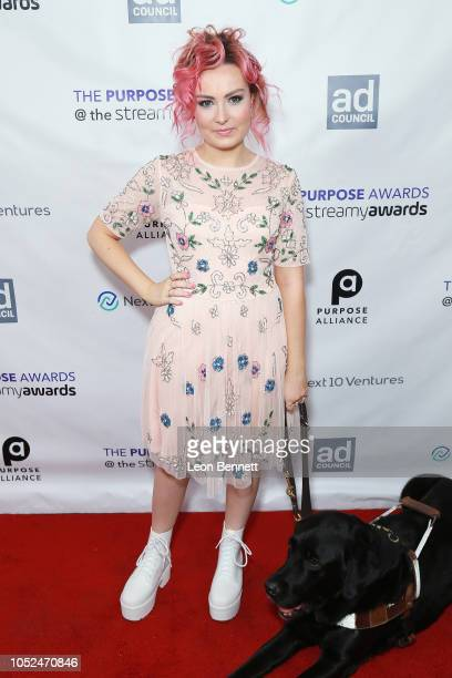 Molly Burke attends the 2018 Streamys Purpose Awards at The Jefferson on October 18 2018 in Los Angeles California