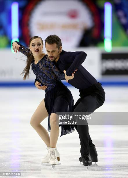 Molly Cesanek and Yehor Yehorov of the USA compete in the Ice Dance Free Skating program during the ISU Grand Prix of Figure Skating at the Orleans...