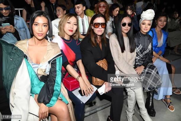 Molly Chiang Faye Tsui Amanda Shadforth Yoyo Cao Neelofa and Jungsu Pyeon attend the Sportmax show during Milan Fashion Week Fall/Winter 2019/20 on...