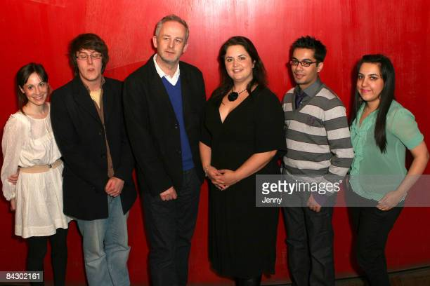 Molly Davies Nick Payne Dominic Cooke Ruth Jones Hammaad Chaudry and Ali Bano attends launch of Young Writers Festival held at the Royal Court...