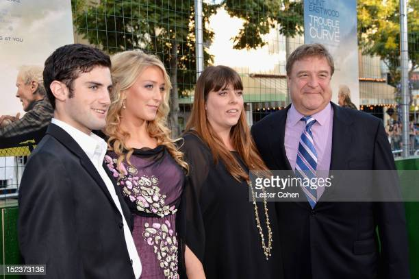 Molly Evangeline Goodman Annabeth Hartzog and actor John Goodman arrive at the 'Trouble With The Curve' Premiere at Mann's Village Theatre on...