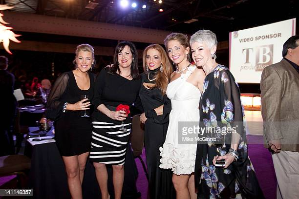 Molly FayTiffany OgleAmanda Guralski Anna Zuckerman and Faye Wetzel attends the 2nd annual Grand Slam Charity Jam at the Potawatomi Bingo Casino on...