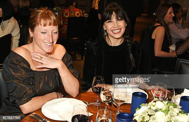 Molly Goddard and Daisy Lowe attend The Fashion Awards in partnership with Swarovski nominees' lunch hosted by the British Fashion Council with Grey...
